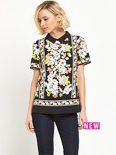 oasis-edie-floral-collar-t-shirt