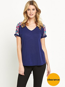 v-by-very-split-woven-back-top