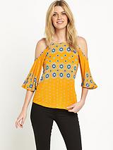 CUT OUT SHOULDER JERSEY TOP