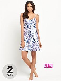 sorbet-2-pack-satin-floral-chemise