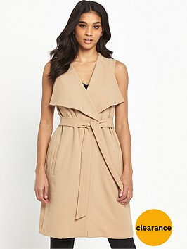 miss-selfridge-olive-waterfall-sleeveless-jacket