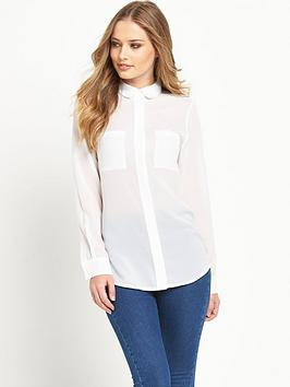 french-connection-polly-plains-long-sleeve-pocket-shirt