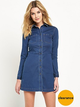 french-connection-second-skin-denim-ls-shirt-dressnbsp