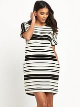 Textured Rib Stripe Dress