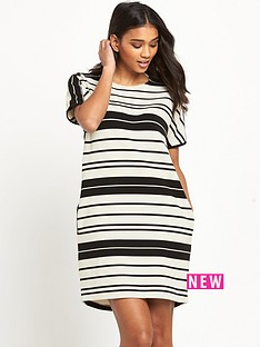warehouse-textured-rib-stripe-dressnbsp