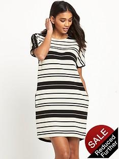 warehouse-textured-rib-stripe-dressnbsp