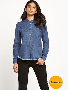 warehouse-frayed-hem-shirt