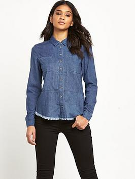 warehouse-frayed-hem-shirt