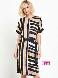 warehouse-stripe-belted-sack-dress