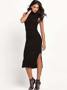warehouse-ribbed-belted-dress