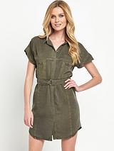Soft Utility Shirt Dress