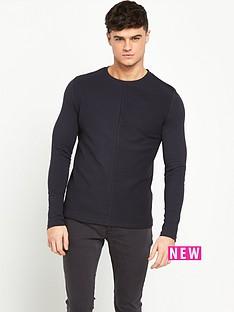 river-island-textured-block-long-sleeve-mens-t-shirt