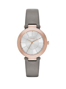 dkny-dkny-stanhope-20-silver-dial-with-grey-leather-strap-ladies-watch