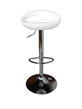 Avanti Bar Stool - White And Chrome