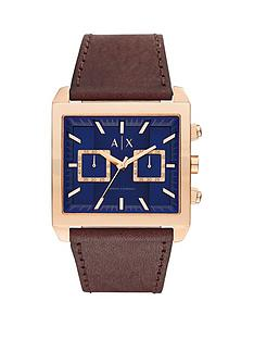 armani-exchange-blue-dial-and-brown-leather-watchnbsp