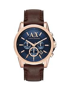 armani-exchange-armani-exchange-blue-dial-and-brown-leat