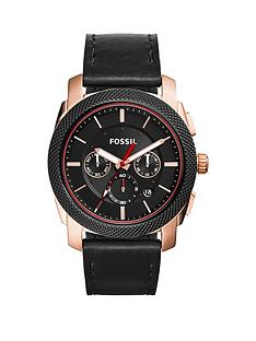 fossil-fossil-machina-black-chronograph-dial-black-leather-mens-watch