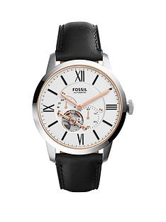 fossil-fossil-townamsn-white-automatic-dial-black-leather-strap-mens-watch