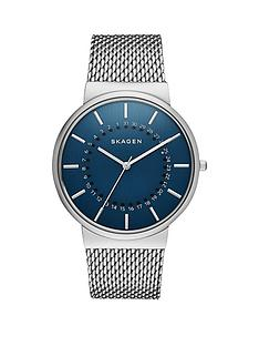 skagen-skagen-ancher-blue-dial-heavy-mesh-silver-mens-watch
