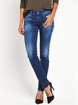 REPLAY ROSE MID RISE SKINNY JEAN