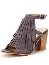 Fringed Block Heel Shoe