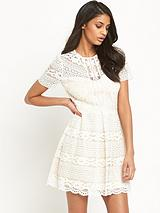 All Over Lace Skater Dress