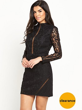 v-by-very-ladder-panel-lace-pencil-dress