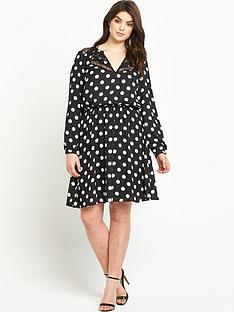 so-fabulous-print-lace-insert-long-sleeve-dress