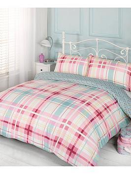 ditsy-check-duvet-cover-set-pink