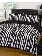 Raya Duvet and Pillowcase Set - Black/White
