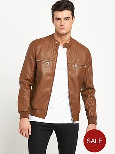river-island-leather-look-mens-bomber-jacket