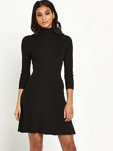 miss-selfridge-roll-neck-fit-amp-flare-dress
