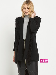 river-island-long-sleeve-fringe-cardigan