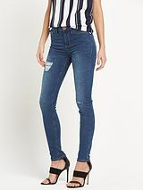 Reform Mid Wash Ripped Jean