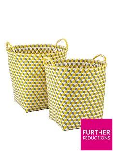 set-of-2-round-baskets-yellow