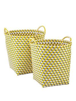 set-of-2-round-baskets-yellow