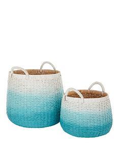 set-of-2-dip-dyed-storage-baskets-mint