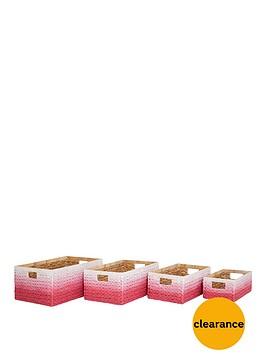set-of-4-dip-dyed-storage-boxes-pink