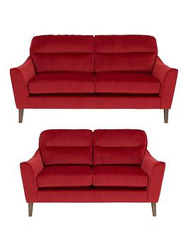Poppy 3-Seater + 2-Seater Fabric Sofa Set (Buy and SAVE!)