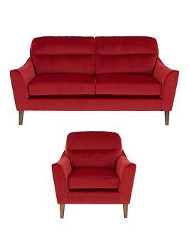 Poppy 3-SeaterFabric Sofa + Armchair (Buy and SAVE!)