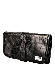 nyx-makeup-bags-black-croc-brush-roll