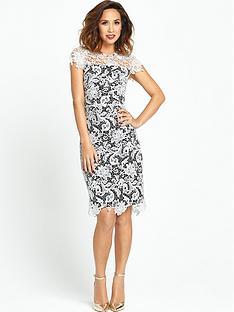 myleene-klass-contrast-lace-pencil-dress