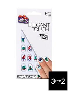 elegant-touch-elegant-touch-snow-fake-christmas-nails