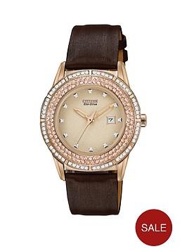 citizen-eco-drive-ttg-cream-dial-swarovski-crystal-set-satin-strap-ladies-watch