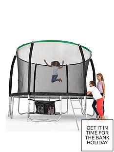 sportspower-14ft-titan-super-tube-trampoline-enclosure-ladder-amp-shoe-bag