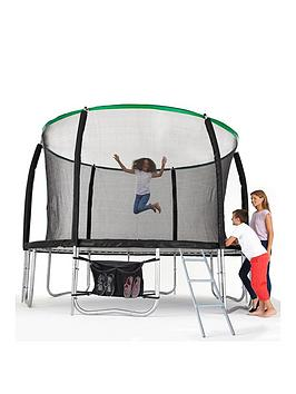 sportspower-14ft-titan-super-tube-trampoline-enclosure-ladder-amp-shoe-bag