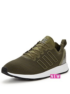 adidas-originals-zx-flux-racer-trainers-oliveblack