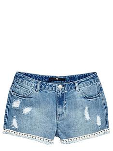 v-by-very-girls-high-waistednbspdenim-shorts-with-pom-pomnbsptrim