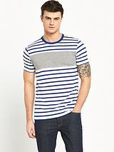 Crew Neck Stripe T- Shirt