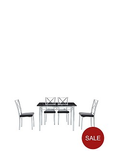 120-cm-marble-effect-diningnbsptable-4-chairs